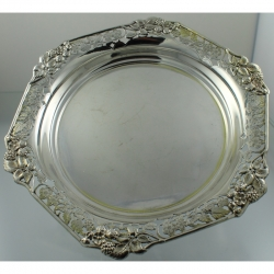 Fruit Bowl Sterling Silver Raspberry Motif c1901 Atkin Brothers