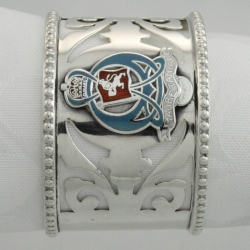 Sterling  and Enamel Napkin Ring c1907 from the RMS Mauretania