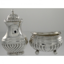 Salt and Pepper Sterling | William Hutton & Sons Ltd c1899