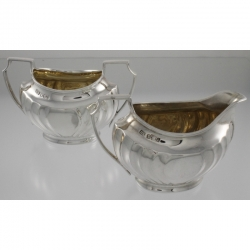 Cream and Sugar Sterling Silver Atkin Brothers England c1900