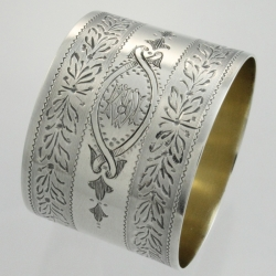 Napkin Ring Sterling Victorian | William Hunter London England