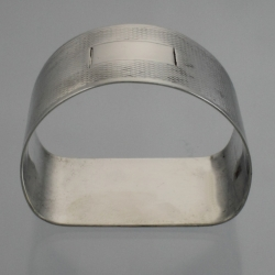 Napkin Ring D Shaped Sterling Silver Birmingham England c1945
