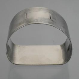 Napkin Ring D Shaped Sterling Silver Birmingham England c1945