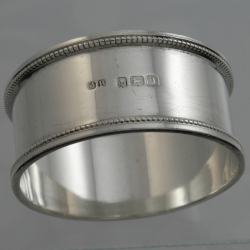 Napkin Ring Sterling Silver c1915 John Rose Birmingham England