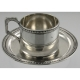Demitasse Cup and Saucer Silver Austria-Hungary c1867-72 Vienna