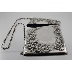 Card Case Sterling Silver Art Nouveau c1890-1910 USA