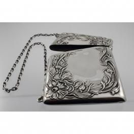 Card Case Sterling Silver Art Nouveau c1890-1910 USA