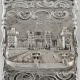 Castle Card Case Sterling Silver George Unite Birmingham c1869