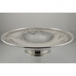 Bowl Sterling Silver Pierced and Hand Engraved Birks c1904-24