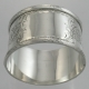 Napkin Ring Sterling Silver c1912  John Rose Birmingham England