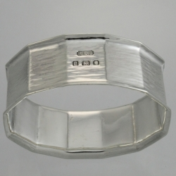 Napkin Ring Sterling c1937 Robert Edgar Stone Arts and Crafts