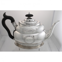 Tea Pot on Stand Sterling Silver Solomon Hougham London England