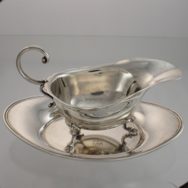 Gravy or Sauce Boat and Tray Birks Canada c1951