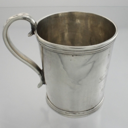 Baby Cup Coin Silver Lincoln & Foss c1847