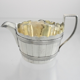 Creamer Sterling Silver c1804 London England Peat Bucket Motif