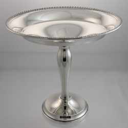 Tazza or Compote Sterling Quaker Silver Co c1926-59 USA