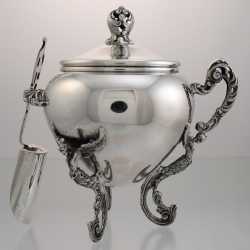 Sugar Bowl With Winged Caryatid Feet | Valenca Italy c1935-49