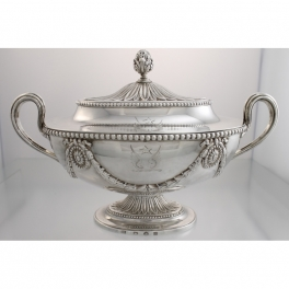 Sauce Tureen Sterling Henry Tudor & Thomas Leder c1776 Sheffield