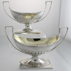 Master Salt Cellars Sterling c1794 Nathaniel Smith Sheffield