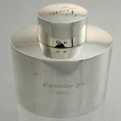 Tea Caddy Sterling George Unite c1899 Unite Birmingham England