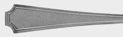 Devonshire  - Personal Butter Knife Flat Handle Paddle Blade  Monogram S